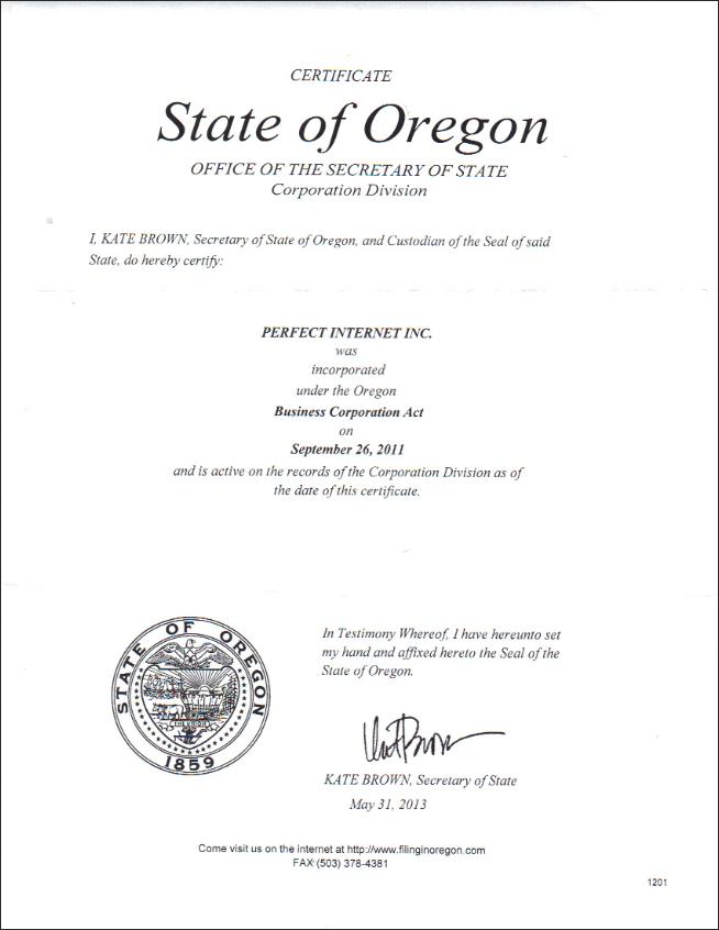 certyfikat PA