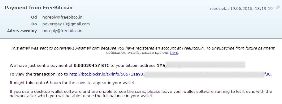 freebitco transakcja