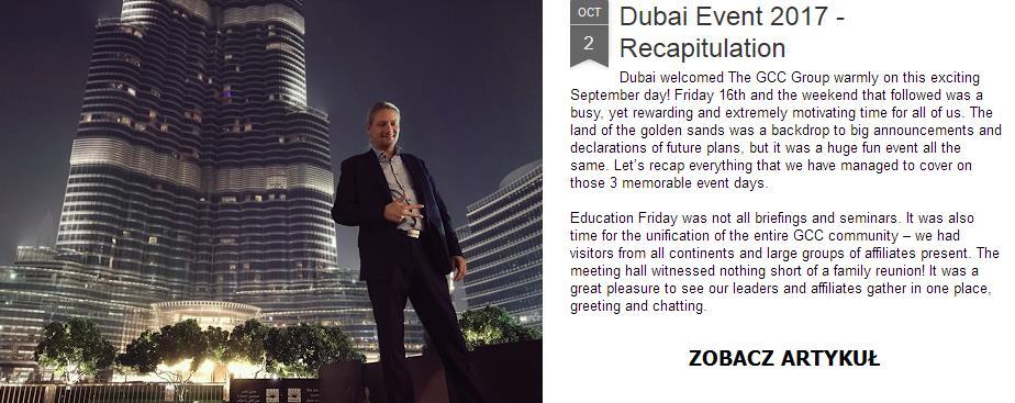 Kapitalizacja rośnie, Event w Dubaju 2017, nowe pakiety w biurze - The Gcc Group