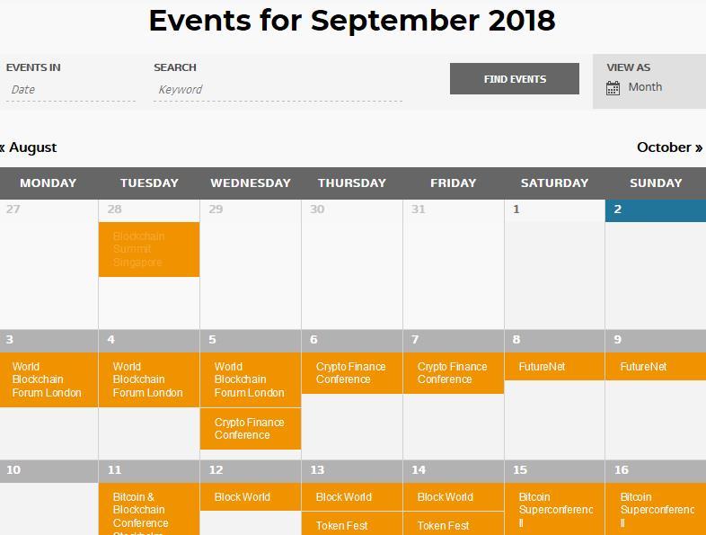 """Eventy """"Bitcoinowe"""" na wrzesień 2018"""