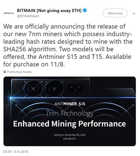 Dwa układy ASIC. Nowa moc od Bitmain