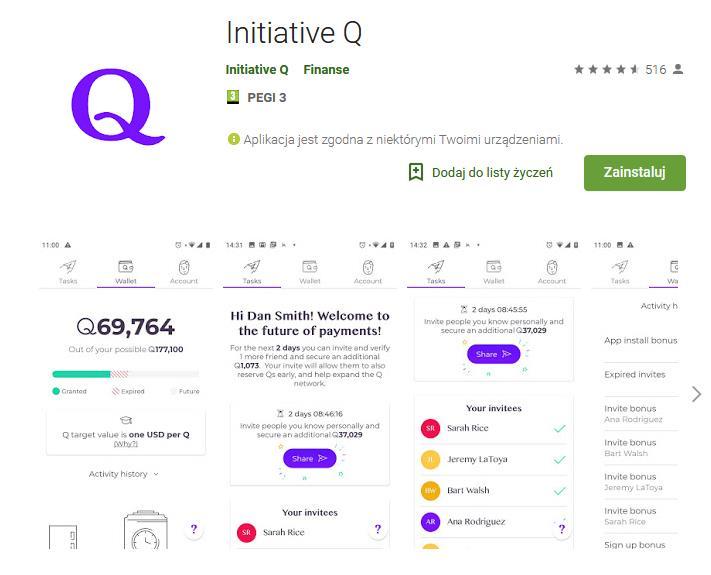Initiative Q - Ponoć projekt kilku osób wcześniej związanych z PayPal