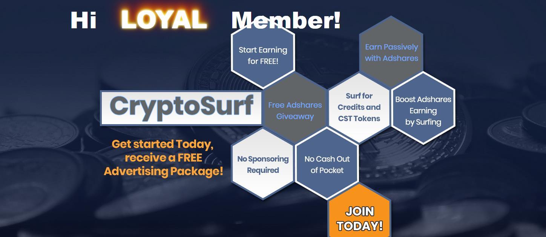 CryptoSurf - to więcej niż wymiana ruchu! Skorzystaj z platformy, reklamuj się i zacznij zarabiać podczas promocji!