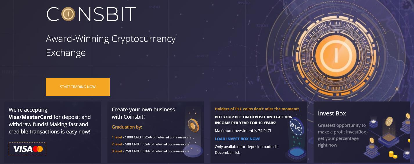 CoinsBit - Cryptocurrency Exchange, Odbierz darmowe CNB (przybliżona wartość to 200$)