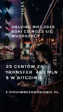 Halving coraz bliżej - jaka będzie wycena Bitcoina?, 25 centów wystarczyło aby przetransferować ... 450 mln $ w BTC