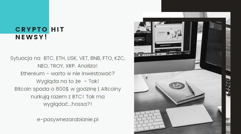 20.02.2020 Co się dzieje z - BTC, ETH, LISK, VET, BNB i z innymi krypto?, nurkowanie altcoinów i mocny spadek Bitconia, Na jaką kryptowalutę nastawiają się kryptomaniacy!