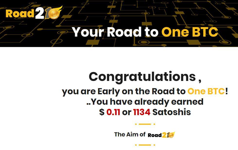 ROAD21BTC - Zdobywaj Satoshi oraz promuj swoje projekty w których działasz na codzień