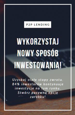 Jesteś pasjonatem dochodów pasywnych? Skorzystaj z peer-o-peer loan investment platform!