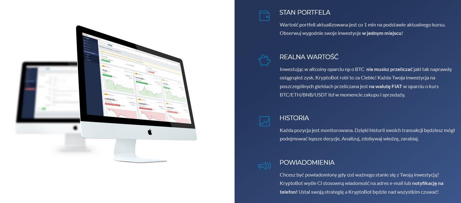 kryptobot monitor inwestycji