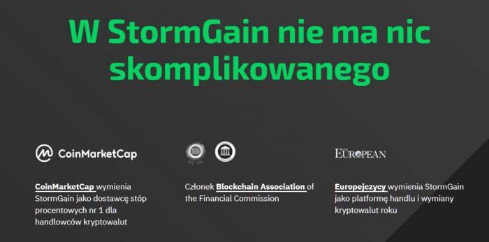 StormGain - Ekosystem zarobkowy oparty na kryptowalutach