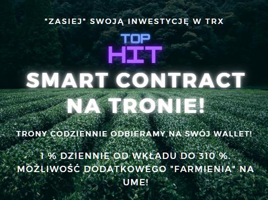 Smart Contract na Tronie. 1% dziennie, do 310 %