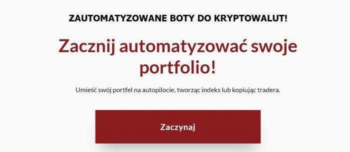 Zautomatyzowane Boty Crypto!