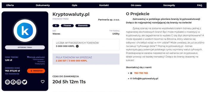 """Kryptowaluty.pl. Nowy, polski ekosystem w branży blockchain. Zakup firmowych tokenów o sporej """"nośności zysku""""!"""