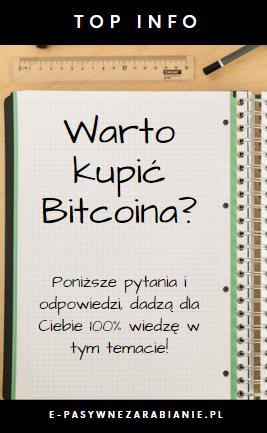 Bitcoin. Odwieczne pytanie. Czy warto w niego inwestować? Poznaj argumenty na to że.....